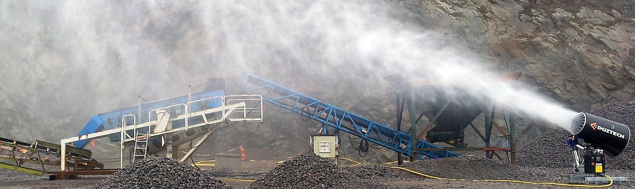 Sistema de utilización de agua para la supresión de polvo